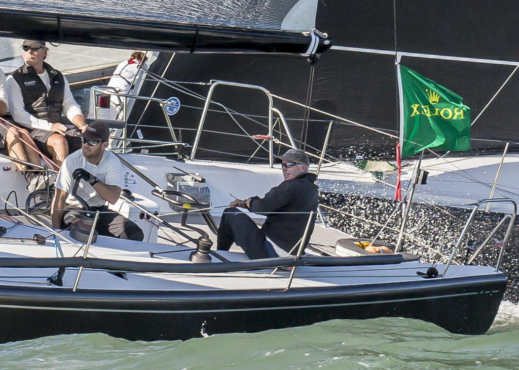 Photo credit to Rolex/Carlo Borlenghi. Picture taken at Maxi Yacht Rolex World Championships 2014. Hutchinson pictured left.
