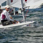 Southern California native, Olin Paine returns to Long Beach sailing for Fordham University during his first National Championship Regatta where he finished 7th.